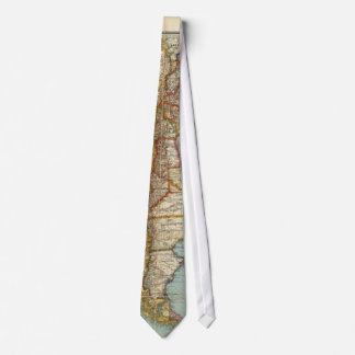 Vintage Map of Lower South America (1914) Neck Tie