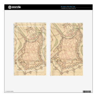 Vintage Map of Luxembourg (1686) Decal For Kindle Fire