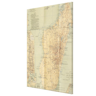 Vintage Map of Madagascar (1896) Canvas Print