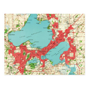 Madison Wi Map Gifts on Zazzle