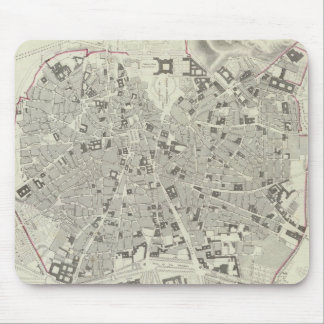 Vintage Map of Madrid Spain (1831) Mouse Pad