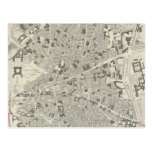 Vintage Map of Madrid Spain (1831) Postcard