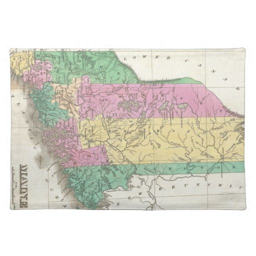 Vintage Map of Maine (1827) Cloth Place Mat
