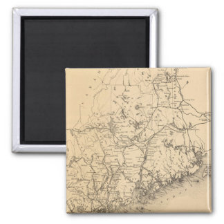 Vintage Map of Maine (1894) 2 Inch Square Magnet