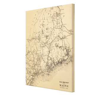 Vintage Map of Maine (1894) Canvas Print