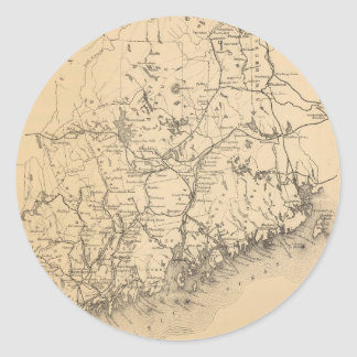 Vintage Map of Maine (1894) Classic Round Sticker