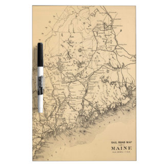 Vintage Map of Maine (1894) Dry Erase Board