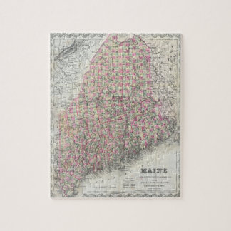 Vintage Map of Maine (1894) Jigsaw Puzzle