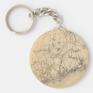 Vintage Map of Maine (1894) Keychain