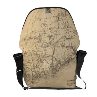 Vintage Map of Maine (1894) Courier Bag