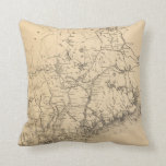 Vintage Map of Maine (1894) Pillows