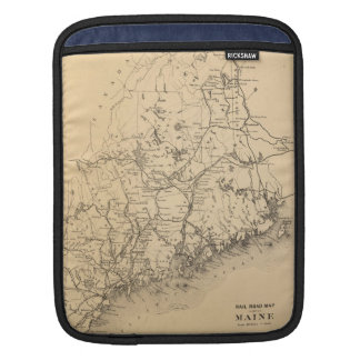 Vintage Map of Maine (1894) Sleeve For iPads