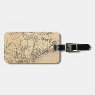 Vintage Map of Maine (1894) Tag For Luggage
