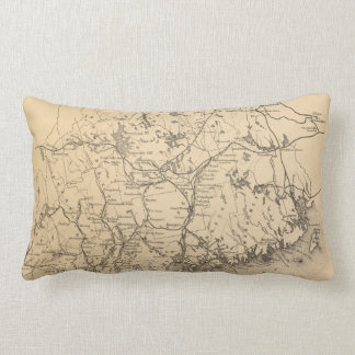 Vintage Map of Maine (1894) Throw Pillow