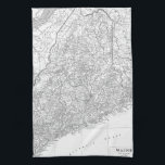 "Vintage Map of Maine (1911) Kitchen Towel<br><div class=""desc"">This is a vintage map of Maine produced in 1911.</div>"