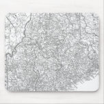 Vintage Map of Maine (1911) Mousepads