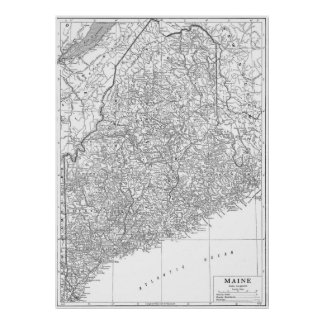 Vintage Map of Maine (1911) Poster