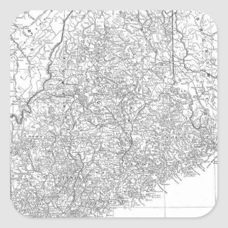 Vintage Map of Maine (1911) Square Sticker