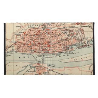 Vintage Map of Mainz Germany (1905) iPad Case