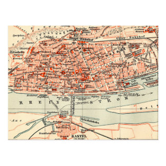 Old Map Of Germany Postcards Zazzle - Germany map mainz