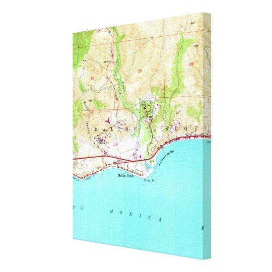 Vintage Map of Malibu California (1950) Canvas Print on hollywood map, corona del mar map, desert cities map, mt laguna map, forrest park map, la jolla map, pacific palisades map, monterey map, san fernando valley map, ventura map, new cuyama map, pinon hills map, miami map, abalone cove map, zuma beach map, mid city map, los angeles map, santa monica map, pismo coast map, wilshire corridor map,