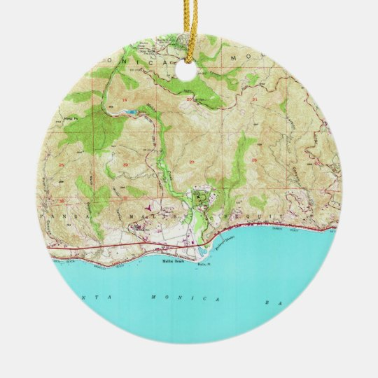 Vintage Map of Malibu California (1950) Ceramic Ornament on hollywood map, corona del mar map, desert cities map, mt laguna map, forrest park map, la jolla map, pacific palisades map, monterey map, san fernando valley map, ventura map, new cuyama map, pinon hills map, miami map, abalone cove map, zuma beach map, mid city map, los angeles map, santa monica map, pismo coast map, wilshire corridor map,