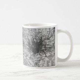 Vintage Map of Manchester England (1911) Coffee Mug