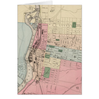 Vintage Map of Manchester New Hampshire (1877) Greeting Card