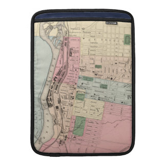 Vintage Map of Manchester New Hampshire (1877) MacBook Sleeve