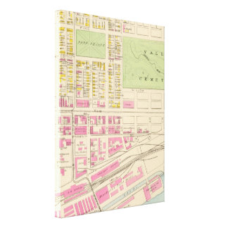 Vintage Map of Manchester NH (1892) (2) Canvas Print