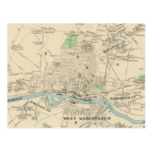 Vintage Manchester Nh Map Gifts on Zazzle