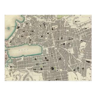 Vintage Map of Marseille France (1840) Postcard
