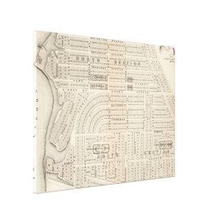 Vintage Map of Marthas Vineyard (1873) Canvas Print