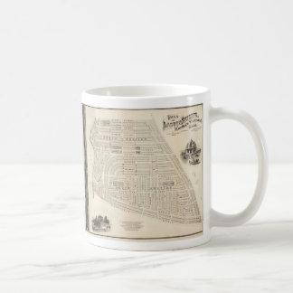 Vintage Map of Marthas Vineyard (1873) Coffee Mug