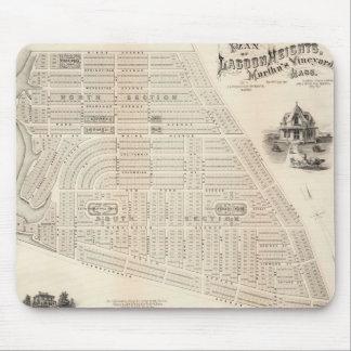 Vintage Map of Marthas Vineyard (1873) Mouse Pad