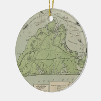Vintage Map of Marthas Vineyard (1913) Ceramic Ornament