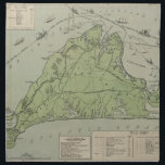 "Vintage Map of Marthas Vineyard (1913) Cloth Napkin<br><div class=""desc"">This is a vintage map of Marthas Vineyard Massachusetts produced in 1913.</div>"