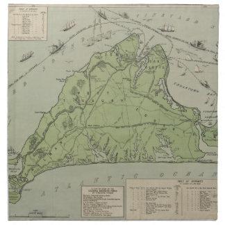 Vintage Map of Marthas Vineyard (1913) Cloth Napkin