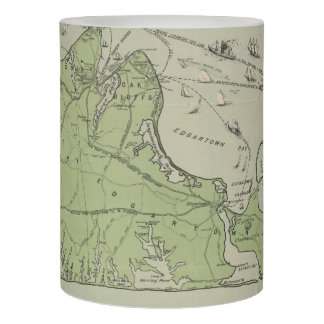 Vintage Map of Martha's Vineyard (1913) Flameless Candle
