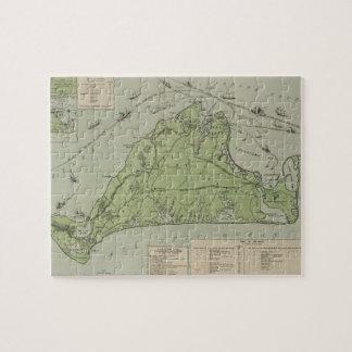 Vintage Map of Marthas Vineyard (1913) Jigsaw Puzzle