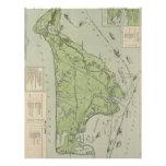 Vintage Map of Marthas Vineyard (1913) Letterhead