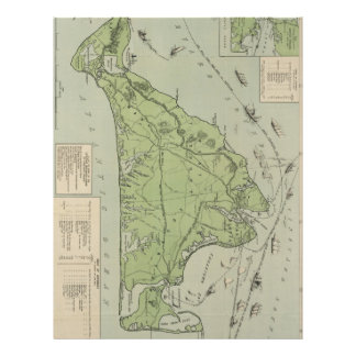 Vintage Map of Marthas Vineyard (1913) Personalized Letterhead