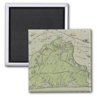 Vintage Map of Marthas Vineyard (1913) Magnet