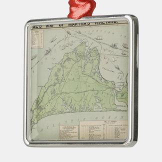 Vintage Map of Marthas Vineyard (1913) Metal Ornament