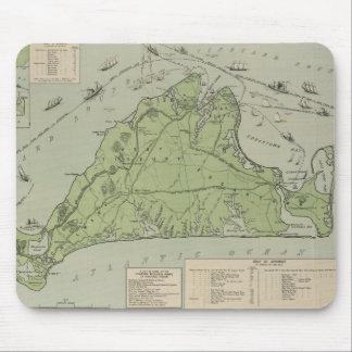 Vintage Map of Marthas Vineyard (1913) Mouse Pads