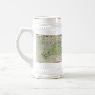 Vintage Map of Marthas Vineyard (1913) Mugs