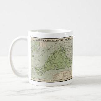 Vintage Map of Marthas Vineyard (1913) Coffee Mugs