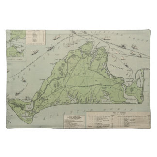 Vintage Map of Marthas Vineyard (1913) Placemat