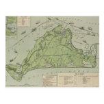 Vintage Map of Marthas Vineyard (1913) Post Card