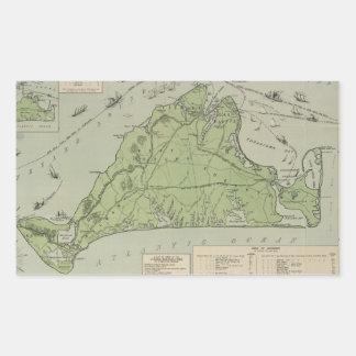 Vintage Map of Marthas Vineyard (1913) Rectangular Sticker